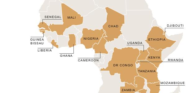 Sub-Saharan Africa Interactive Map Thumbnail