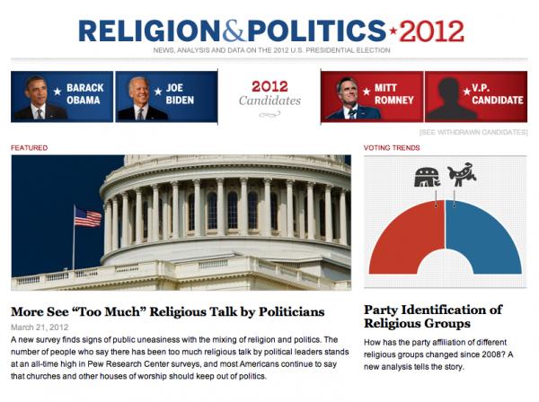 Religion & Politics 2012 Microsite