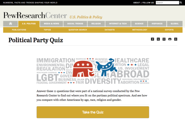 Political Party Quiz 1